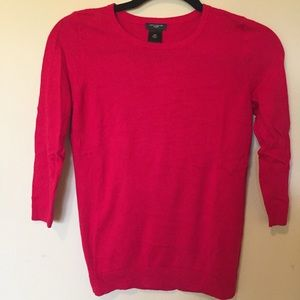 Ann Taylor Factory red 3/4 sleeve screw sweater